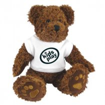 10 inch Charlie bear wearing a t-shirt