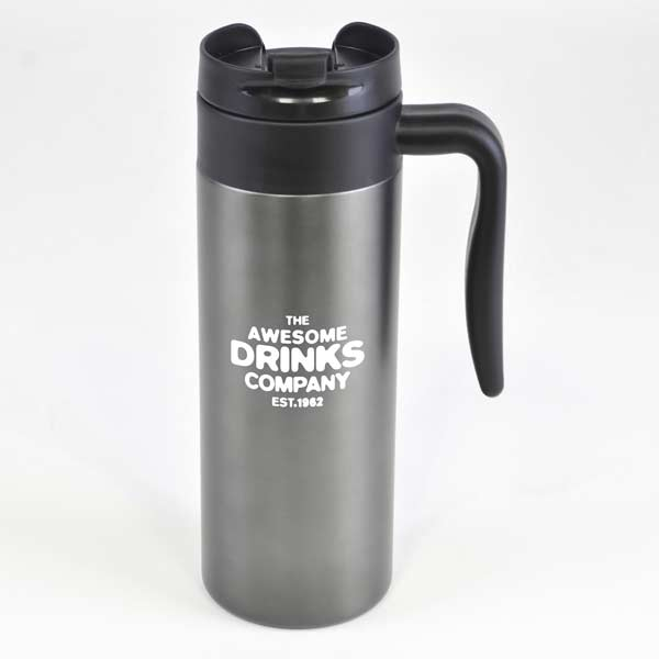 450ml Tall gun metal stainless steel thermal mug
