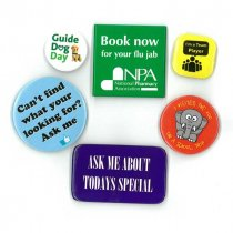 54mm square button badge
