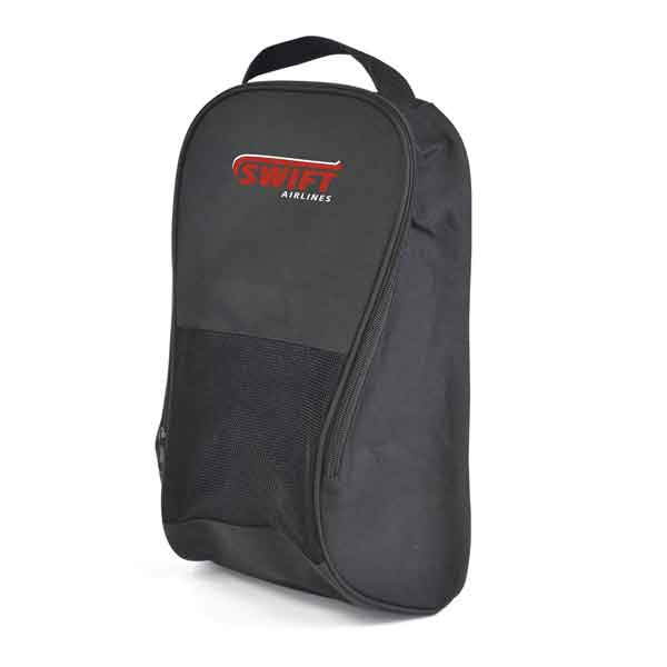 600D polyester shoe bag with air vent