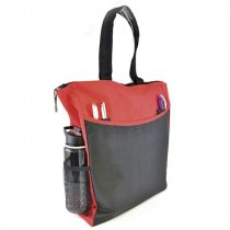 600D Polyester two tone deluxe shopper bag