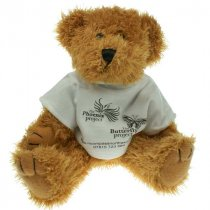 8 inch Sparkie bear wearing a t-shirt