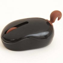 Animal tail cordless optical mouse