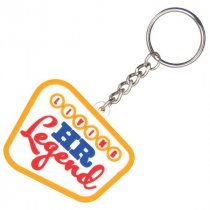 Bespoke shaped 50mm moulded soft PVC key ring