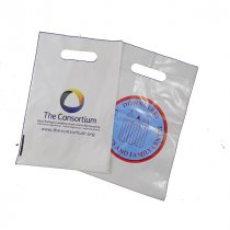 Biodegradable small plastic white carrier bag