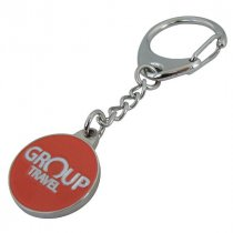 Captive style Trolley Coin key ring