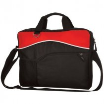 Contrast polyester briefcase bag