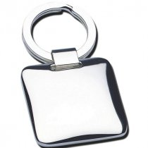 Cushion silver plated executive key ring