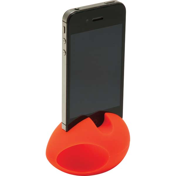 Deluxe iPhone silicon stand and amplifier