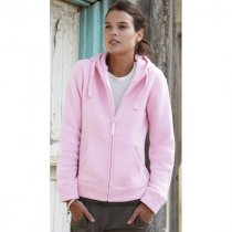 Fruit Of The Loom Lady-fit Zip Thru Hooded Sweat Jacket