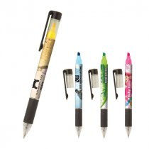 Full colour highlighter ballpen