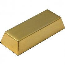 Gold finish solid metal ingot desk paperweight