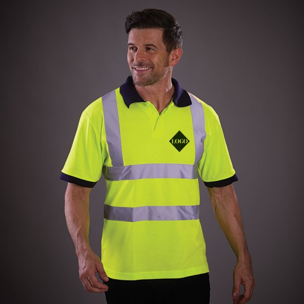 Hi–Vis Short Sleeve Polo Shirt