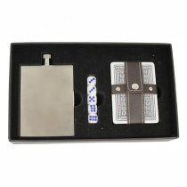 Hip flask poker set