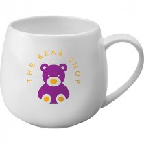 Hug white bone china mug