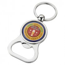 Decal bottle opener key ring