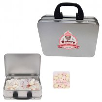 Suitcase sweet tin