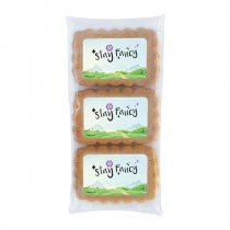 Trio of gingerbread cookies with edible label