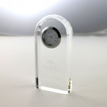 Optical crystal bevelled arch clock