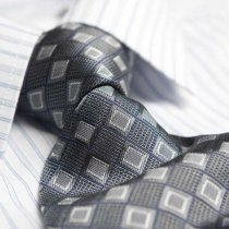 Jacquard woven polyester tie