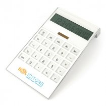 Large white executive desk calculator