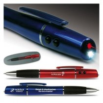 Laser pointer flashlight ballpen