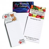 Magnetic notepad available in a selection of standard shapes and sizes