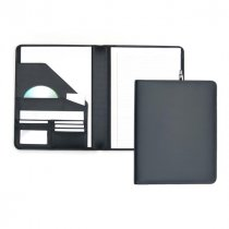 Malvern smooth water resistant leather A4 conference folder