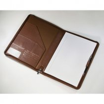Melbourne leather zipped conference folder