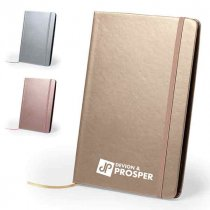Metallic faux leather notebook