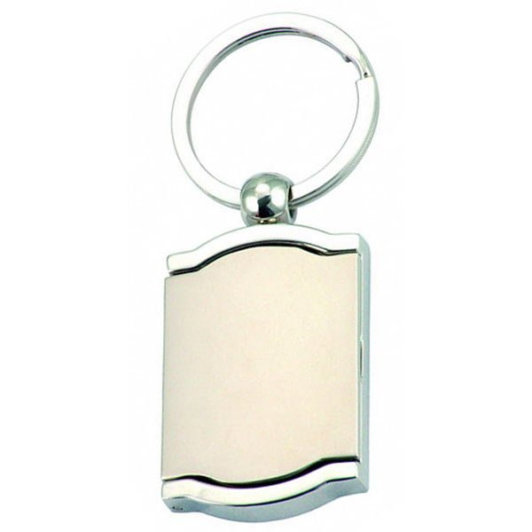 Nickel plated key ring with photo frame
