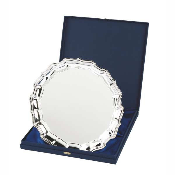 Nickel plated salver
