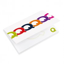 NoteStix 50 sheet adhesive pad with full colour card cover