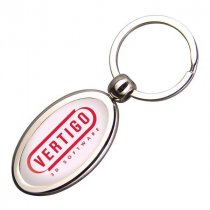 Oval die cast key fob