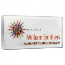Personalised acrylic name badge