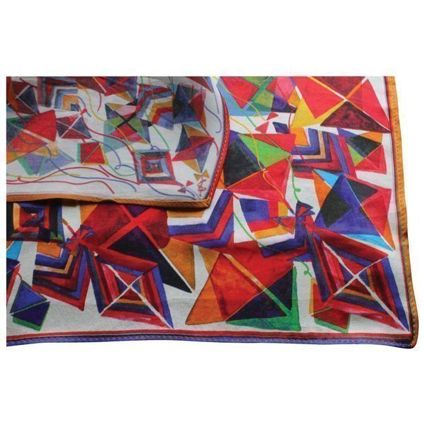 Printed Silk square scarf