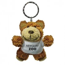 Buster bear key ring wearing a T-Shirt