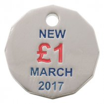 With new shaped £1 Sterling coin