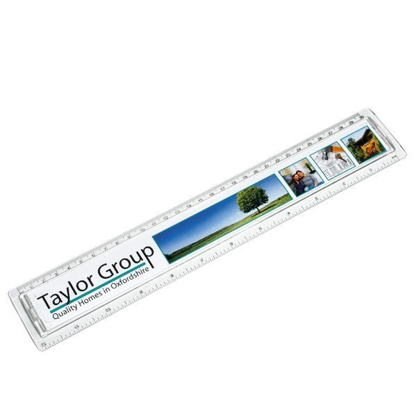Clear rulers available in three sizes with a full colour printed insert. Why not double the impact of your message and print useful information on the reverse at no extra cost? Ideal for desktop promotions and corporate giveaways.
