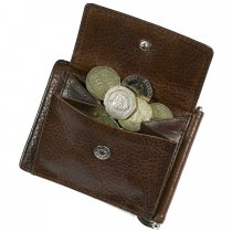 Ashbourne full hide leather money card case