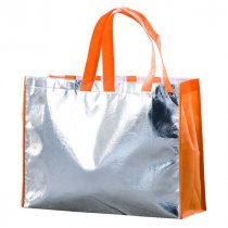 Metallic Shopper with coloured trim