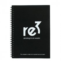 Recycled A5 tyre notepad