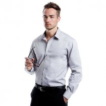 Kustom Kit Long Sleeve Contrast Premium Oxford Shirt