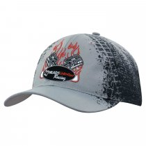 Tyre print breathable poly twill 6 panel baseball cap