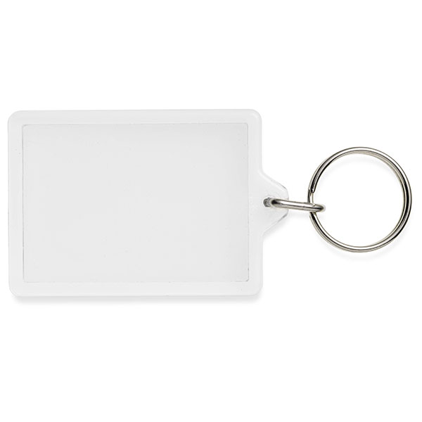 Adveiw large rectangular key ring.