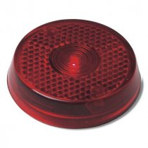 Red safety lamp with clip