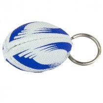Rubber mini rugby key ring