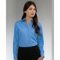 Russell Collection Ladies Long Sleeve Polycotton Easy Care Poplin Shirt