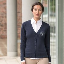 Russell Ladies V Neck Cardigan