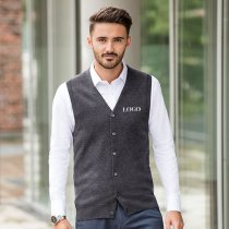 Russell V Neck Sleeveless Cardigan
